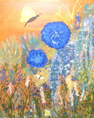 "Oct 7, Wed, 7-10pm ""Flower Garden"" Public Wine & Paint Class in St. Charles"