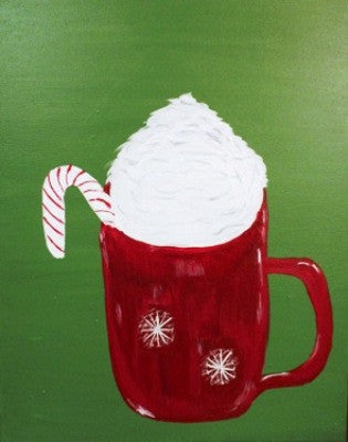 "Nov 24, Tue, 7-10pm ""Hot Cocoa"" Open Wine & Painting Class in St. Charles"