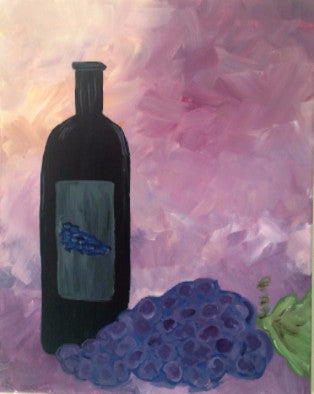 "Jan 28, Thu, 7-10pm ""Wine Bottle"" Open Wine and Painting Class in St. Charles"