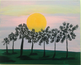 "Mar 9, Wed, 7-10pm ""Sunshine"" Open Wine and Painting Class in St. Charles"