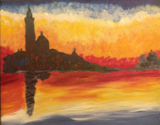 "Mar 5, Sat, 2-5pm ""Dusk"" Open Wine and Painting Class in St. Charles"