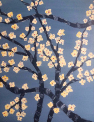 "Mar 16, Wed, 1-4pm ""Soft Yellow Blossoms"" Open Wine and Painting Class in St. Charles"