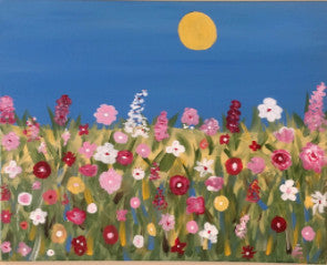 "Aug 3, Wed, 7-9pm ""Spring Air"" Open Wine and Painting Class in St. Charles"
