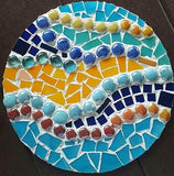 June 11, Sun, 2 to 5pm Mosaic Stepping Stone (2 sizes) Class in St. Charles