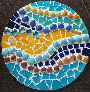 June 11, Sun, 2 to 5pm Mosaic Stepping Stone (Large) Class in St. Charles