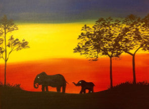 "Apr 17, Sun, 6-9pm ""I'll Follow"" Open Wine and Painting Class in St. Charles"