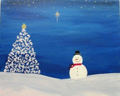 "Dec 10, Thu, 6-9pm ""North Star"" Open Wine & Painting Class in St. Charles"