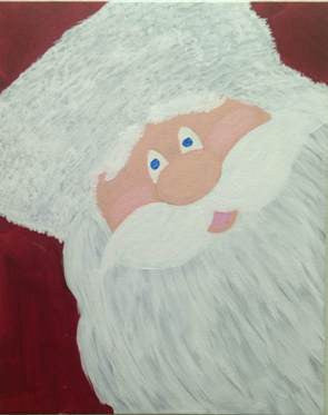 "Nov 12, Thu, 7-10pm ""Santa"" Public Wine & Painting Class in St. Charles"