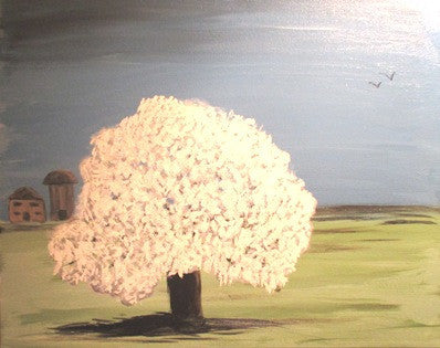 "Oct 6, Tue, 7-9pm ""Country Tree"" Public Wine & Paint Class in St. Charles"