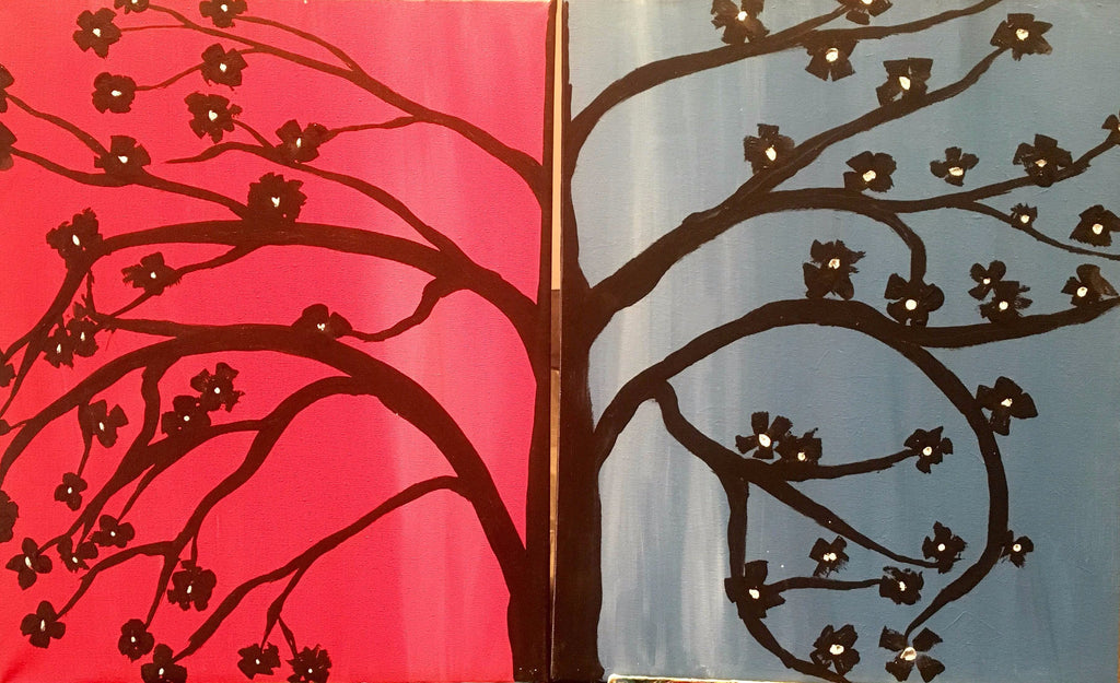 "June 10, Fri, 7-10pm ""Date Night Tree"" Open Wine and Painting Class in St. Charles"