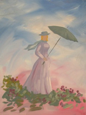 "Sep 25, Fri, 7-10pm ""Girl with Umbrella"" Public Wine & Paint Class in St. Charles"
