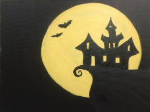 "Oct 9, Sun, 5-7pm ""Haunted Full Moon"" Family Public Paint Class in St. Charles"