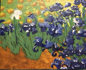 "Oct 6, Thu, 6-9pm Van Gogh's ""Irises"" Public Painting Class in St. Charles"