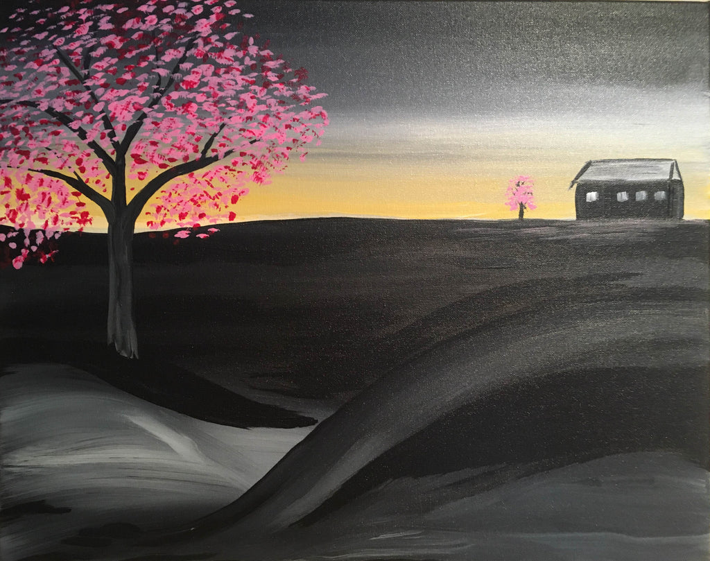 "July 29, Fri, 7-10pm ""Light from Darkness"" Open Wine and Painting Class in St. Charles"