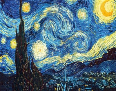 "Sep 1, Tue, 7-10pm ""Starry Night"" Public Wine & Paint Class in St. Charles"