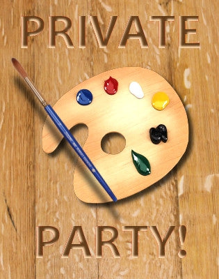 July 7, Fri, 1:30 to 5pm  Private Painting Party