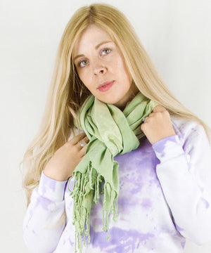Load image into Gallery viewer, Green Earth Tie Dye Scarf