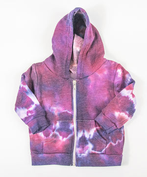 Load image into Gallery viewer, Purple tie dye baby jacket by Akasha Sun.