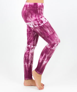 Load image into Gallery viewer, Pink tie dye yoga leggings by Akasha Sun.