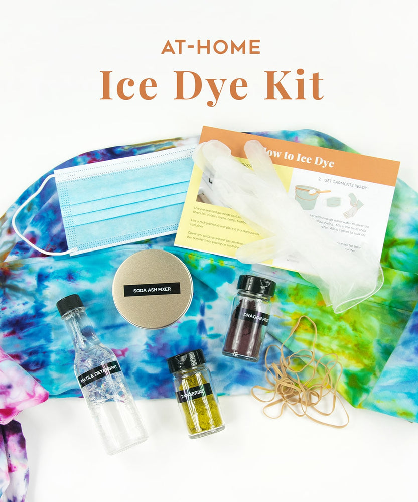 Ice Dye Kit for learning to tie dye or to give as a tie dye gift.