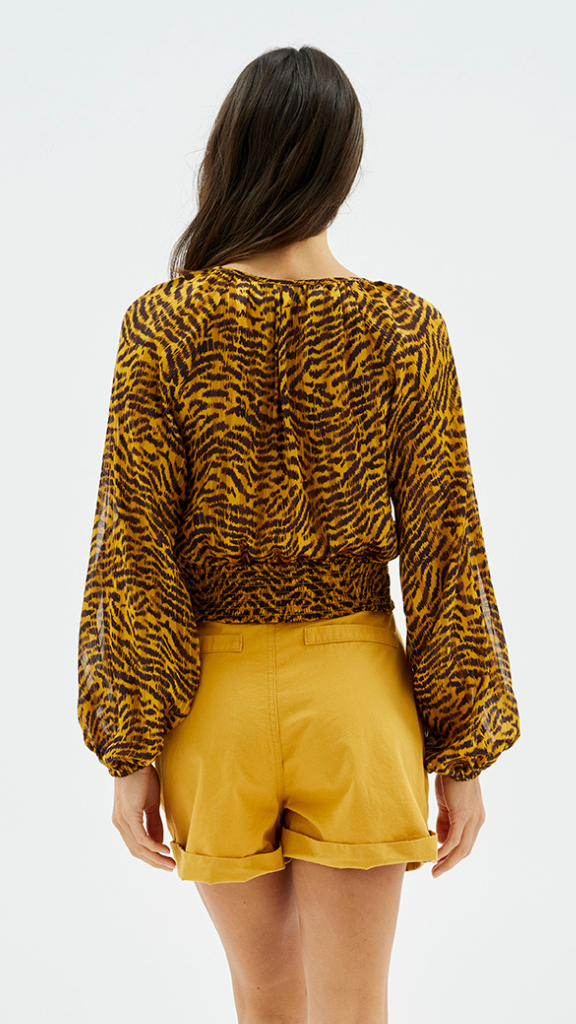 Karina Golden Zebra Blouse
