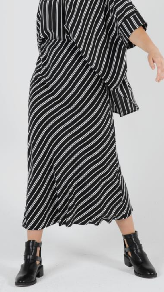 Lucia Midi Skirt (Stripe)