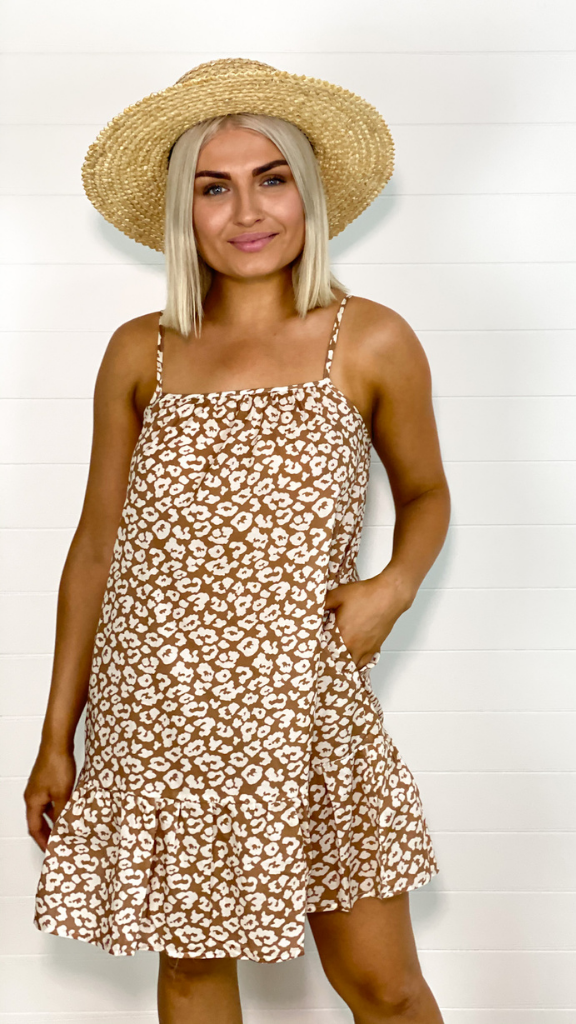 Mindy Day Dress (Leopard)