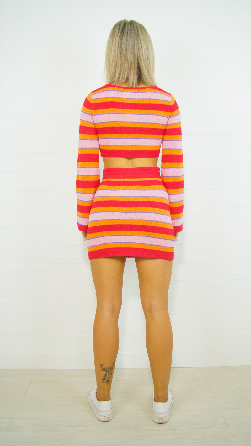 Zora Striped Top (Red)