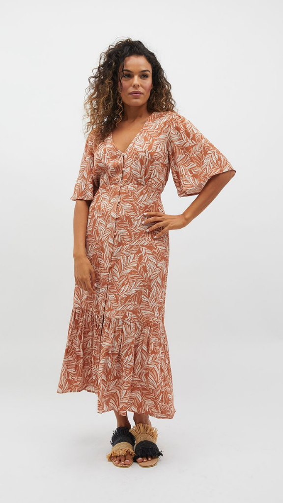 Katey Button Maxi Dress