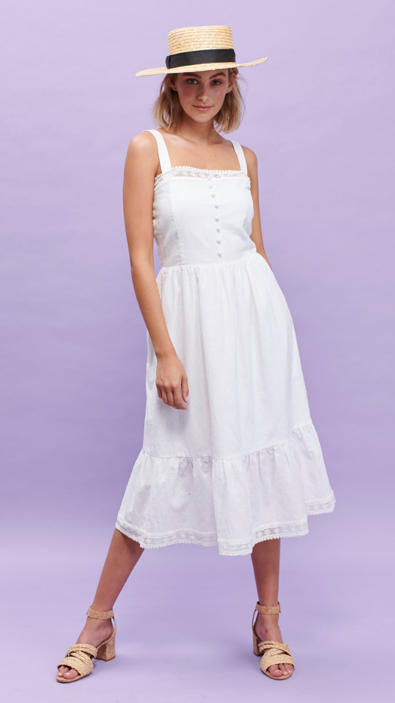 Sahara Midi Dress (White)
