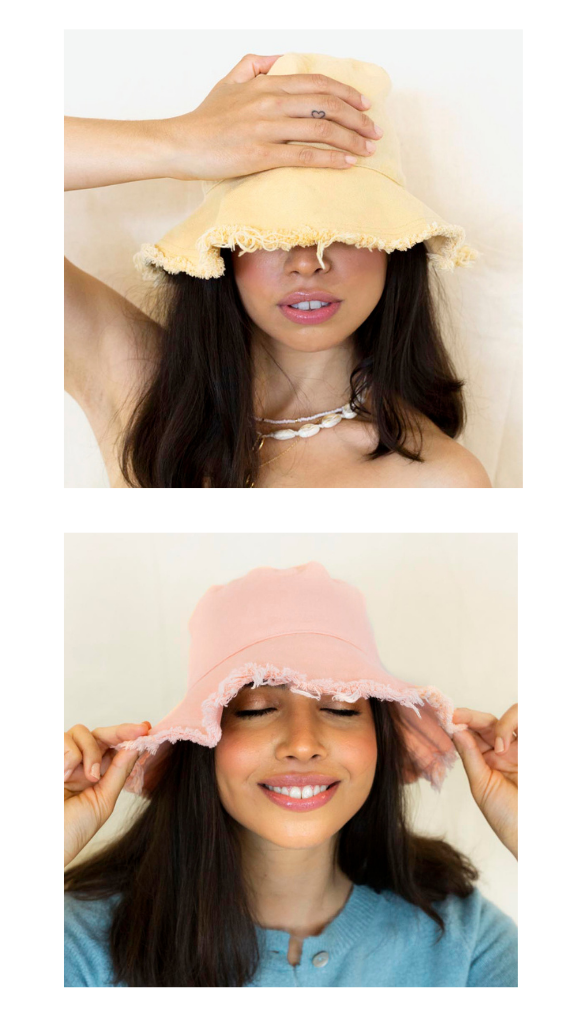 Darcy Frayed Bucket Hat