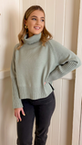 Henny Roll Neck Sweater (Sage)