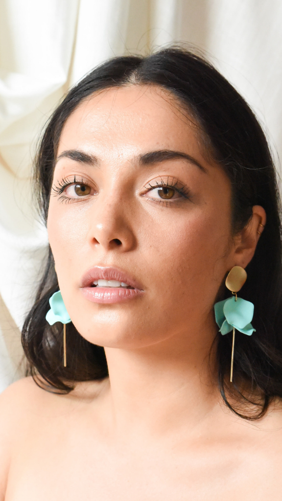 Esta Flower Earrings (Sea)