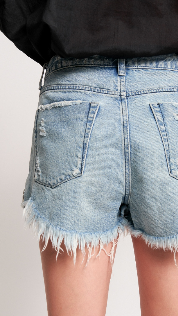 Salty Dog Mid Length Denim Short
