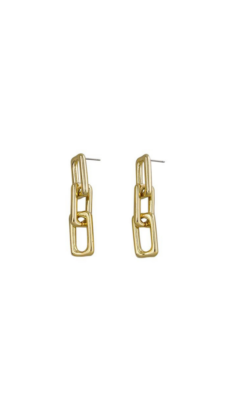 Jae Chain Link Earrings (Gold)