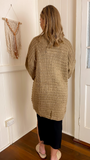 Crystal Knit Cardigan (Mocha)