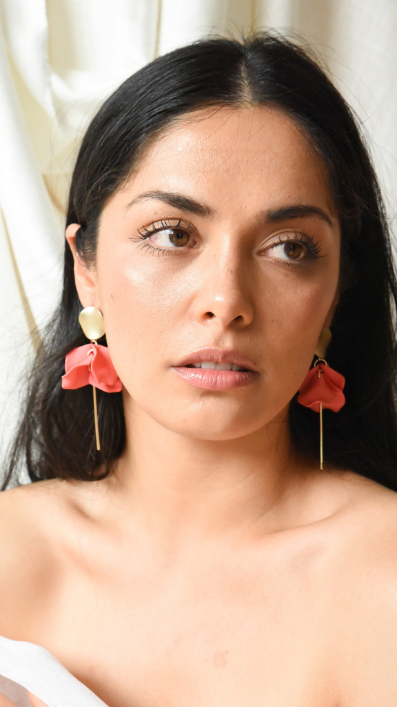 Esta Flower Earrings (Rose)