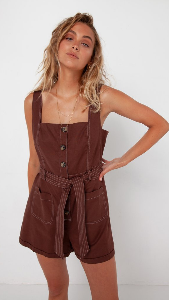 Vienna Playsuit (Choc)