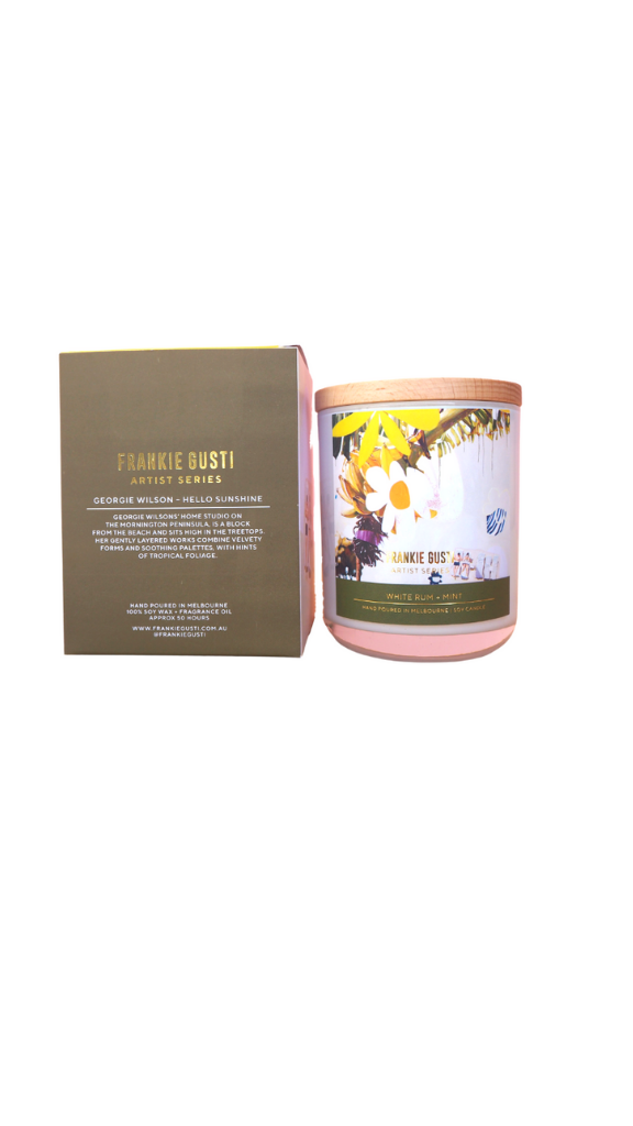 White Rum & Mint Franki Gusti Candle - Pick up only