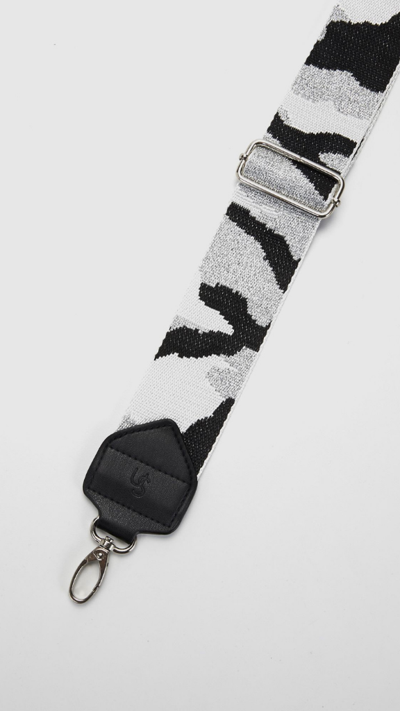 Fashion Bag Strap (Silver/Army)