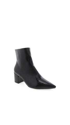 Issie Boot (Black Croc)