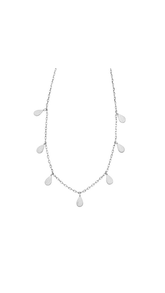 Teardrop Necklace (Silver)