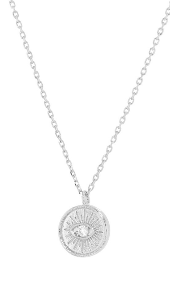 Emilia Eye Necklace (Silver)