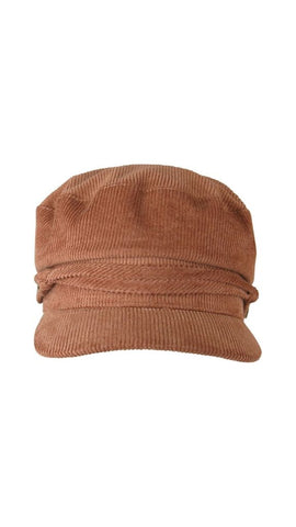 Arya Cord Cap (Brown)