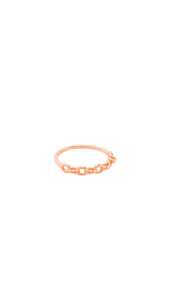 Chain Link Ring - Rose Gold