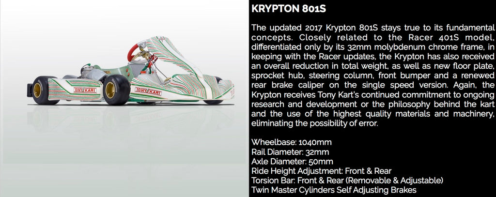 TONY KART KRYPTON 801S - Power Republic - Online Kart Shop - Gold Coast - Brisbane