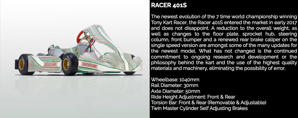 TONY KART RACER 401S - Power Republic - Online Kart Shop - Gold Coast - Brisbane