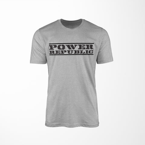 POWER REPUBLIC ORIGINAL LOGO MEN'S TEE - GREY MARLE