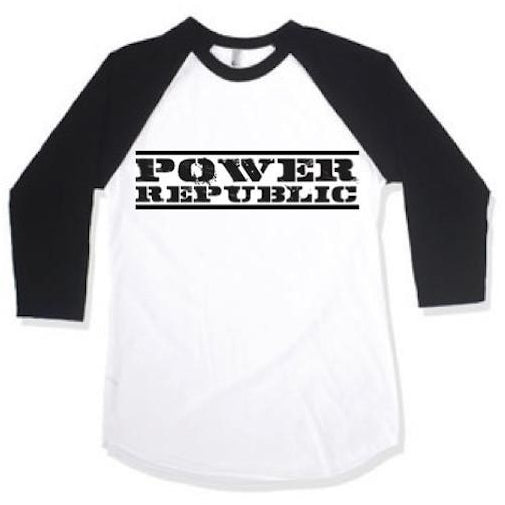 Power Republic Original Logo Raglan Tee - Power Republic - Online Kart Shop - Gold Coast - Brisbane