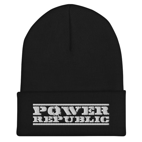 POWER REPUBLIC ORIGINAL LOGO CUFFED BEANIE